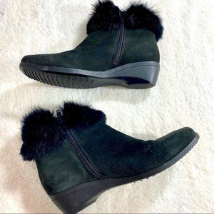 La CANADIENNE Cold weather Real Fur Booties Boots
